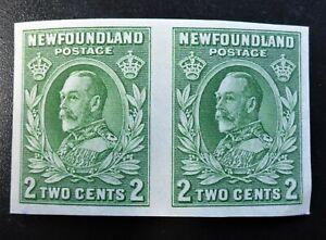 NEWFOUNDLAND #186c VF IMPERF PAIR NH**DIE I GEORGE V CAT.$90  CAN.SHIP $1.99 COM
