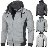 Men Autumn Winter Slim Hoodie Hooded Sweatshirt Coat Jacket Outwear Sweater Hot