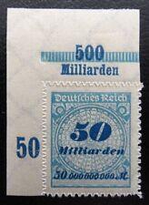Deutsches Reich Mi 330 B ** , POR B , Bogenecke