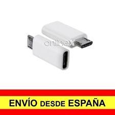 Adaptador USB 3.1 Tipo C Hembra a MicroUSB Macho Conector Conversor Blanco a3624