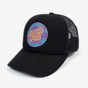 Santa Cruz Original Dot Trucker Hat Mens in Black