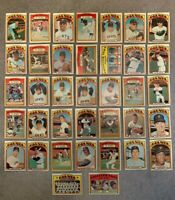 1972 Topps San Francisco Giants Complete Team Set (37) - Mays, McCovey, Marichal