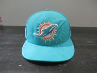 New Era Miami Dolphins Hat Cap Fitted 7 1/2 Green Teal NFL Football Mens