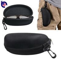Zipper Hard Eye Glass Case Box Sunglass Protector Travel Fashion with Belt Clip