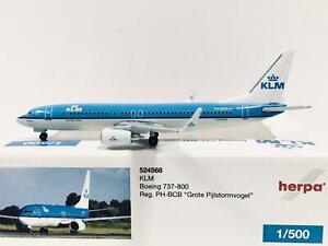 """Herpa Wings KLM Boeing 737-800 """"Grote Pijlstormvogel"""" 1:500 PH-BCB 524568"""