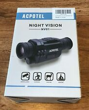 ACPOTEL Night Vision Monocular, 5 x 35 Digital Night Vision HD Scopes with Re...