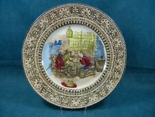 "Early Royal Doulton Tavern Scene 5 Men at Table 10 1/4"" Cabinet Plate"