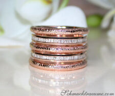 Klare Formen: Puristischer Roségold Ring mit Diamanten 585, 0.39 ct. W SI 3300€