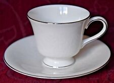 WEDGWOOD COFFEE CUP & SAUCER - SILVER ERMINE