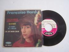 EP 45 T VINYLE 4 T , FRANÇOISE HARDY, C ' EST A L 'AMOUR . VG - / VG - LANGUETTE