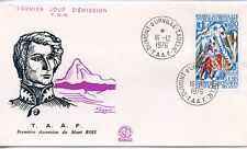 FDC / T.A.A.F. TERRES AUSTRALES TIMBRE N° 61 / 1° ASCENSION DU MONT BLANC