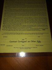JOHN D. STILLWELL NFL ROOKIE PLAYER SIGNED CONTRACT CLEVELAND BROWNS BERT BELL