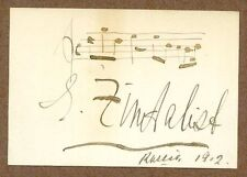 Efrem Zimbalist, Sr., Famed Violinist, Signed Musical Quotation, Age 22, COA