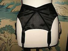 "NEW GARTER BELT 6 GARTERS SILK/COTTON ""VELVET VAMP"" ""Dottie's Delights"" M"