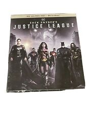 Justice League-Snyder Cut (4K Uhd+ Blu-ray+Slipcover) Factory Sealed
