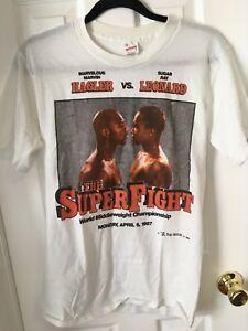 The Superfight Sugar Ray Leonard Marvelous Marvin Hagler Vintage Shirt