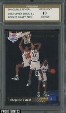 New listing 1992-93 Upper Deck Shaquille O'Neal Magic RC Rookie HOF PSG 10 GEM MINT