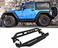07-17 Jeep Wrangler JK 2 Door Side Armor Bars Nerf Step Side Step Textured Black