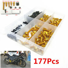 177Pc Fairing Bolt Kit Bodywork Screws Spire Screw Spring Nuts for Honda CBR600R
