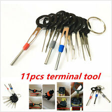 11PC Terminal Removal Car key Tool Wiring connector Pin Release Extractor Puller