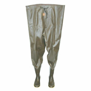 Calcutta CC22102-8 Rubber Chest Fishing Waders Size 8 Trout River Men's Gift