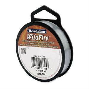 Beadalon WILDFIRE 20 yd (18.3m) Thermally Bonded Beading Weaving Thread Cord