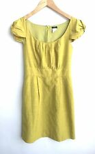 J Crew Size 0 Cotton and Silk Lime Green Dress