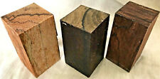 3 Exotic Woods Bottle Stoppers Marblewood Cocobolo Ziricote Woodturning Timbers