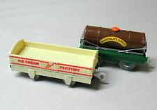Thomas & Friends, Trackmaster, ICE CREAM FACTORY & CHOCOLATE SYRUP CARS., EUC