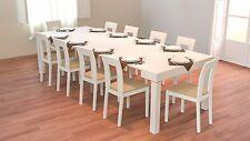 Tavolino da ingresso consolle allungabile da corridoio 3 metri colore Bianco