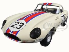 JAGUAR LIGHTWEIGHT E-TYPE QVALE SEBRING #23 WHITE 1/18 MODEL BY PARAGON 98361