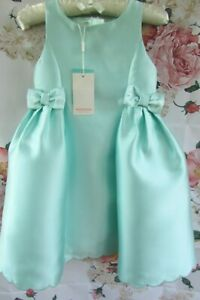 BNWT Mint Green BOW Flower Girl Bridesmaid Party Occasion Dress Monsoon 5-6 £50