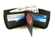 New Mens Black Leather Zip Around Credit Card Holder RFID Blocking Wallet Purse