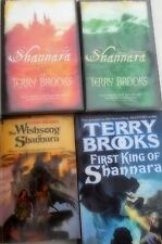 TERRY BROOKS - THE EPIC SHANNARA TRILOGY PLUS ITS PREQUEL - 4 VOLUMES