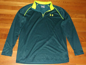 UNDER ARMOUR 1/4 ZIP LONG SLEEVE LOOSE FIT PULLOVER MENS MEDIUM EXCELLENT