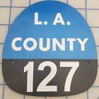 LA COUNTY 127 FIRE HELMET SHIELD