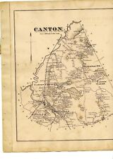 1876 maps Canton, Massachusetts, from Norfolk County Atlas, with family names!