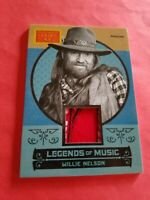 WILLIE NELSON COUNTRY SINGER WORN RELIC MEMORABILIA CARD '14 GOLDEN AGE MUSIC