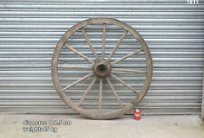 Vintage old wooden cart wagon wheel  / 112.5 cm - 45 kg #