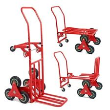 150kg Heavy Duty 6 Wheel Stair Climber Climbing Flat Bed Hand Truck Sack Trolley