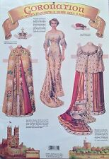 Coronation Queen Elizabeth II Paper Doll Repro, Old Fashioned Embossed, 1999