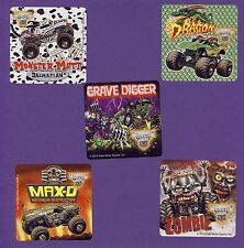 10 Monster Jam Trucks Fan Favorites - Large Stickers - Monster Mutt,Grave Digger
