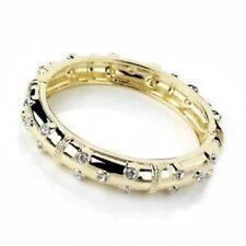 Debenhams Gold Plt Hinged Bracelet Statement Bangle Studded W/ Swarovski Crystal