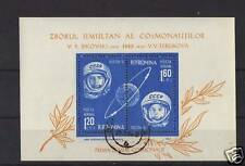ROMANIA 1963 MINI SHEET OF 2 VOSTOK 1 & 2 COSMONAUTS