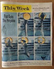 This Week magazine Newspaper 1962 Porpoise Miami Seaquarium-June Allyson-Polara