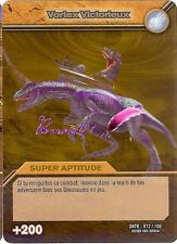 Carte DINOSAUR KING Série Titanesque DKTB 072/100 VORTEX VICTORIEUX OR DORE