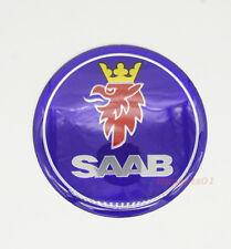 1Pcs 65mm Car Wheel Center Cap Emblem Adhesive Sticker Badge Logo for SAAB