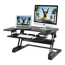"Sit to Stand Desk Height Adjustable Ergonomic Standing Workstation 36"" Surface"