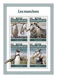 Togo Birds on Stamps 2017 MNH Penguins Macaroni Penguin 4v M/S