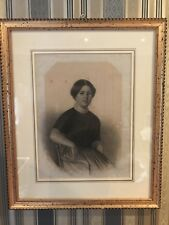 Biedermeier Porträt Portrait Bleistift Kohle